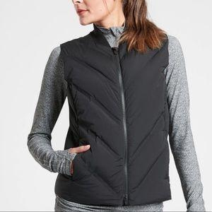 ATHLETA Inlet Vest Black Full Zip Down Insulated S
